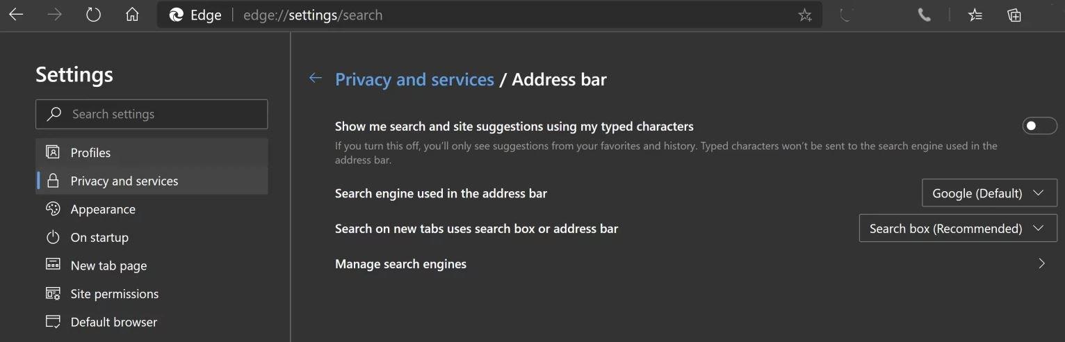 Microsoft edge bug
