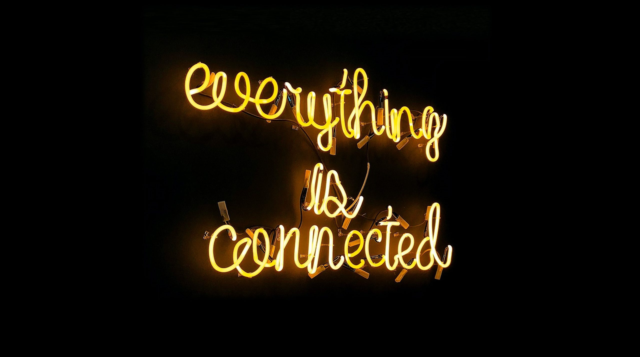 Everything is connected message